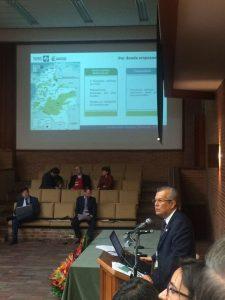 """Intervención de Juan Antonio Nieto Escalante, Director General del Instituto Geográfico Agustín Codazzi - IGAC, con su conferencia """"Los nuevos criterios de identificación predial""""."""